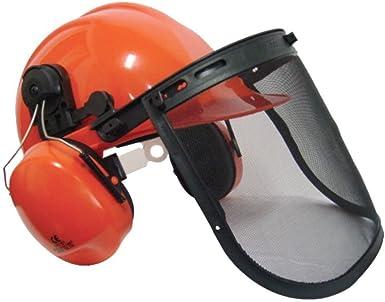 Casco de seguridad para motosierra, cortador de cepillo, con correa para la barbilla