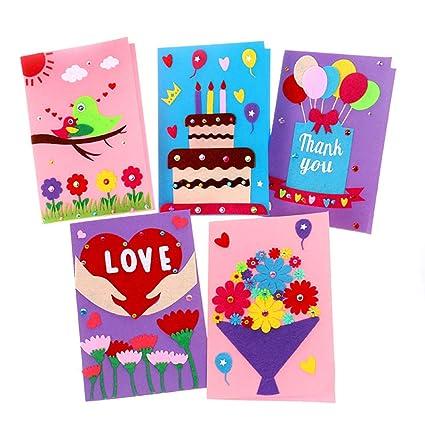 Amazon Com Card Making Kits Diy Handmade Greeting Card Kits For