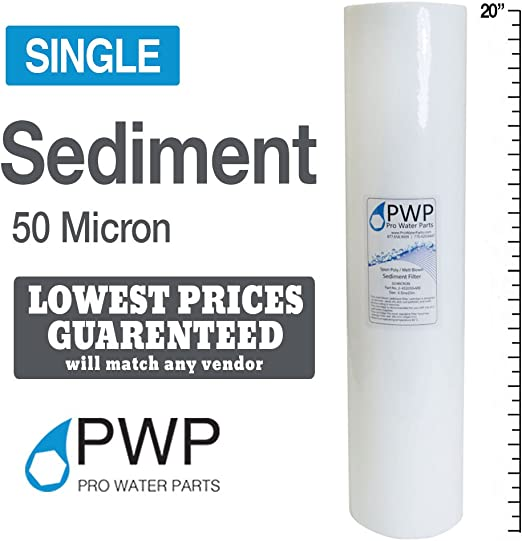 "Sediment Melt Blown Water Filters 10x2.5/"" Standard 50 Micron 50 Pack"