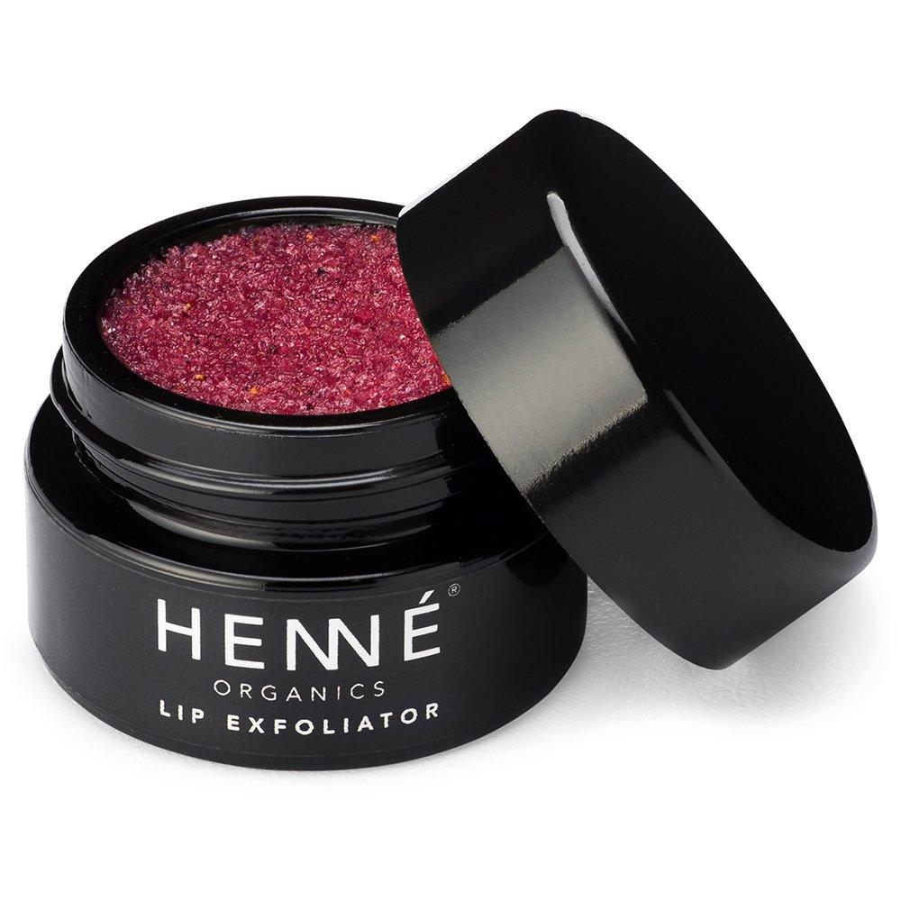 Henné Organics Luxury Lip Exfoliator Scrub - All Natural USDA Certified Organic Cruelty-Free - Lush Sugar Polish Anti-Aging Lip Repair Treatment - NORDIC BERRIES