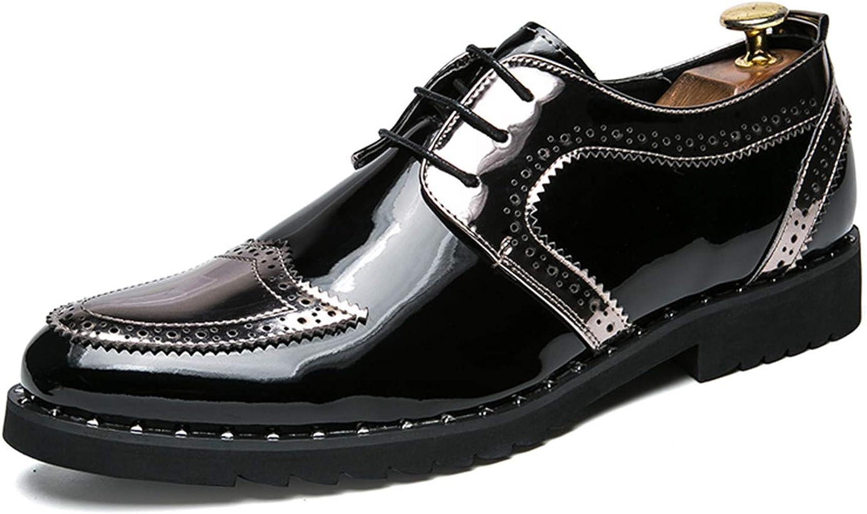 Amazon.com: Zapatillas de vestir para hombre, con purpurina ...