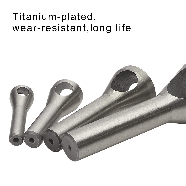 LESOLEIL 5pcs 10mm Rotary Burr Die Set Tungsten Carbide Grinding Head 6mm Shank Bit Set Woodworking Tool