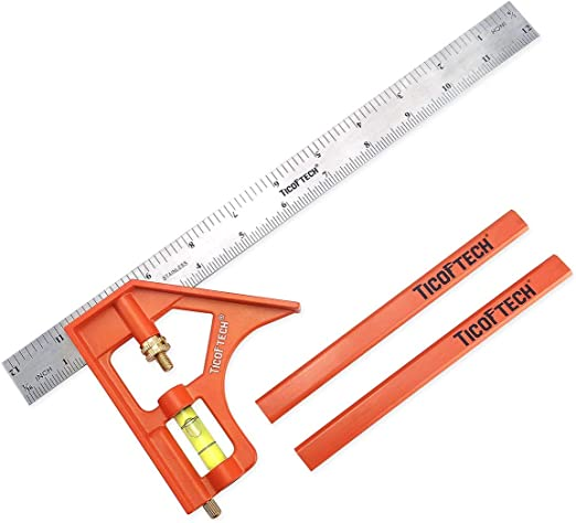 Ticoftech 12-Inch Combination Square