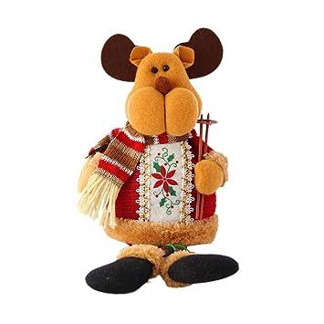 BESTOYARD Navidad Peluches Elk Reno Navidad Decoraciones de Mesa: Amazon.es: Juguetes y juegos