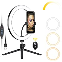 Neewer 10 Inch USB LED Ring Light with Tripod Stand
