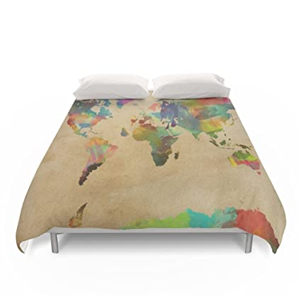 Amazon society6 world map duvet covers queen 88 x 88 evan society6 world map duvet covers queen 88quot gumiabroncs Images