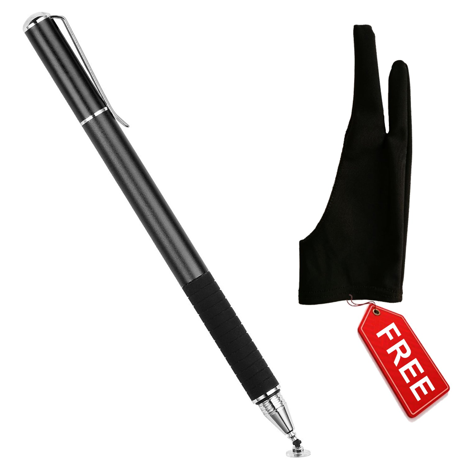 Stylus Pen for ipad with Artist Drawing Glove | Compatible with Wacom Graphic Tablets | Left Or Right Hand Glove for Light Box, Sketching and Painting