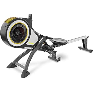 Marcy Foldable Turbine Rowing Machine Rower with 8 Resistance Setting and Transport Wheels NS-6050RE