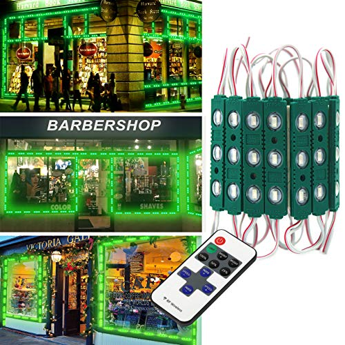 - Super Bright 20FT 40pcs LED Storefront Lights Window Light Kits LED Bulb for Indoor/Outdoor Decoration Lighting Letter Sign Advertising Signs with Tape Adhesive Backside for Business (Green)