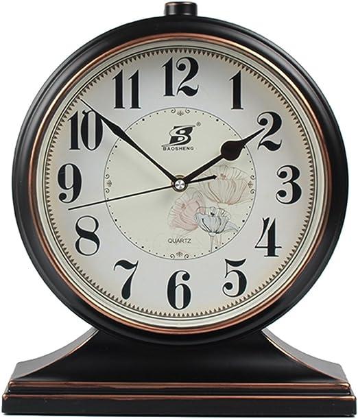QQB @Reloj de Escritorio Reloj de Mesa Reloj Retro Reloj de Mesa ...