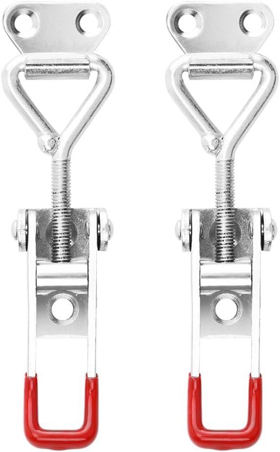 HITECHLIFE 2 pezzi Fermaglio Rapido in Metallo Zincato Fermaglio per Serrature in Ferro Zincato