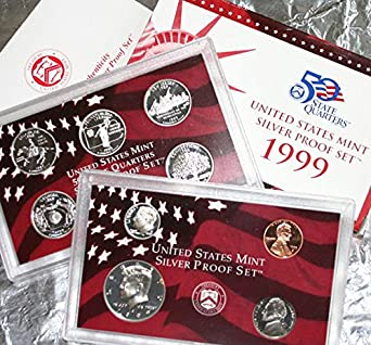 2000 S US MINT PROOF SET W//BOX AND COA STATE QUARTER PROOFS COMPLETE