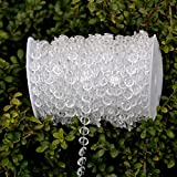 Crystal Curtains LittleStar 99 ft Clear Crystal Acrylic bead curtain for Wedding,Birthday,Party Decorations,and good for Home,Yard decoration