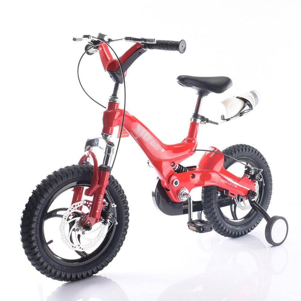 キッズバイク男の子と女の子マウンテンベビーキャリッジ14 16インチ3-4-6歳の子供の自転車白黄色の青いレッドゴールド B07DXB6BX5 14 inch|赤 赤 14 inch