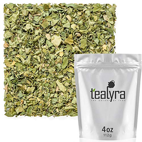 Tealyra - Pure Moringa Leaf Tea - Super Healthy Wellness Loose Tea - Drumstick Tree - rich in Antioxidants and Vitamins - Caffeine-Free - 112g (4-ounce)