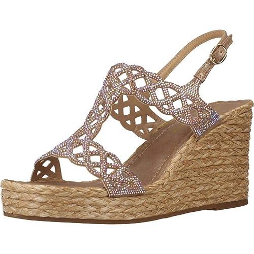 79651a90834 ALMA EN PENA V19504 - Sandalia Piel C.A. Acero para Mujer: Amazon.es:  Zapatos y complementos
