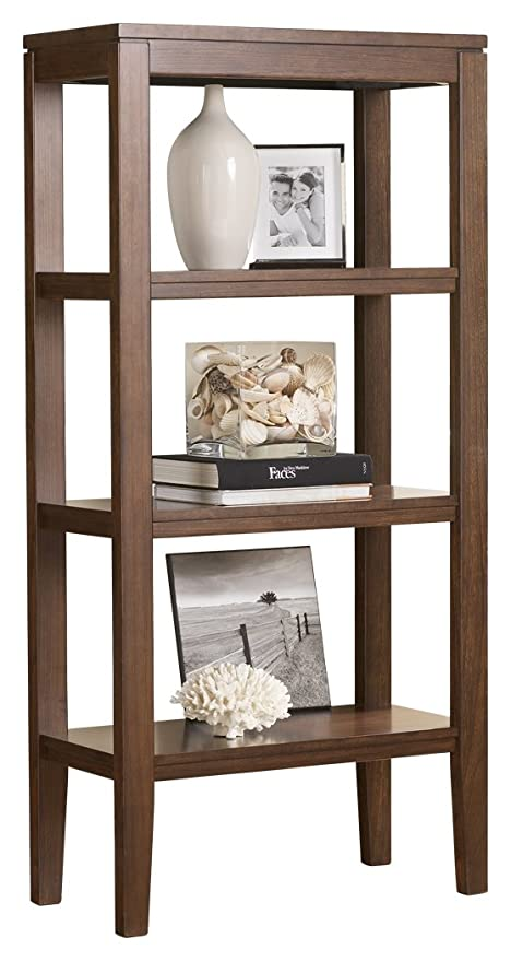 Ashley Furniture Signature Design   Deagan Pier Cabinet   3 Fixed Shelves    Contemporary   Dark