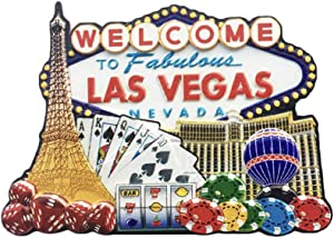 3D Las Vegas USA Refrigerator Fridge Magnet Tourist Souvenirs Handmade Resin Craft Magnetic Stickers Home Kitchen Decoration Travel Gift