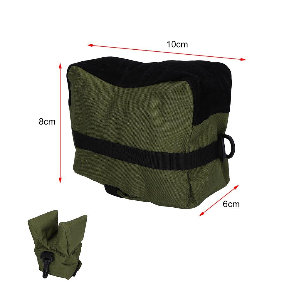 Verde Sacchetto di Tiro Anteriore e Posteriore Portatile Riposo per Fucile//Sacco da Tiro Sostegno Target Stand Sacco per Armi Sacco da Tiro Set di Borse da Banco