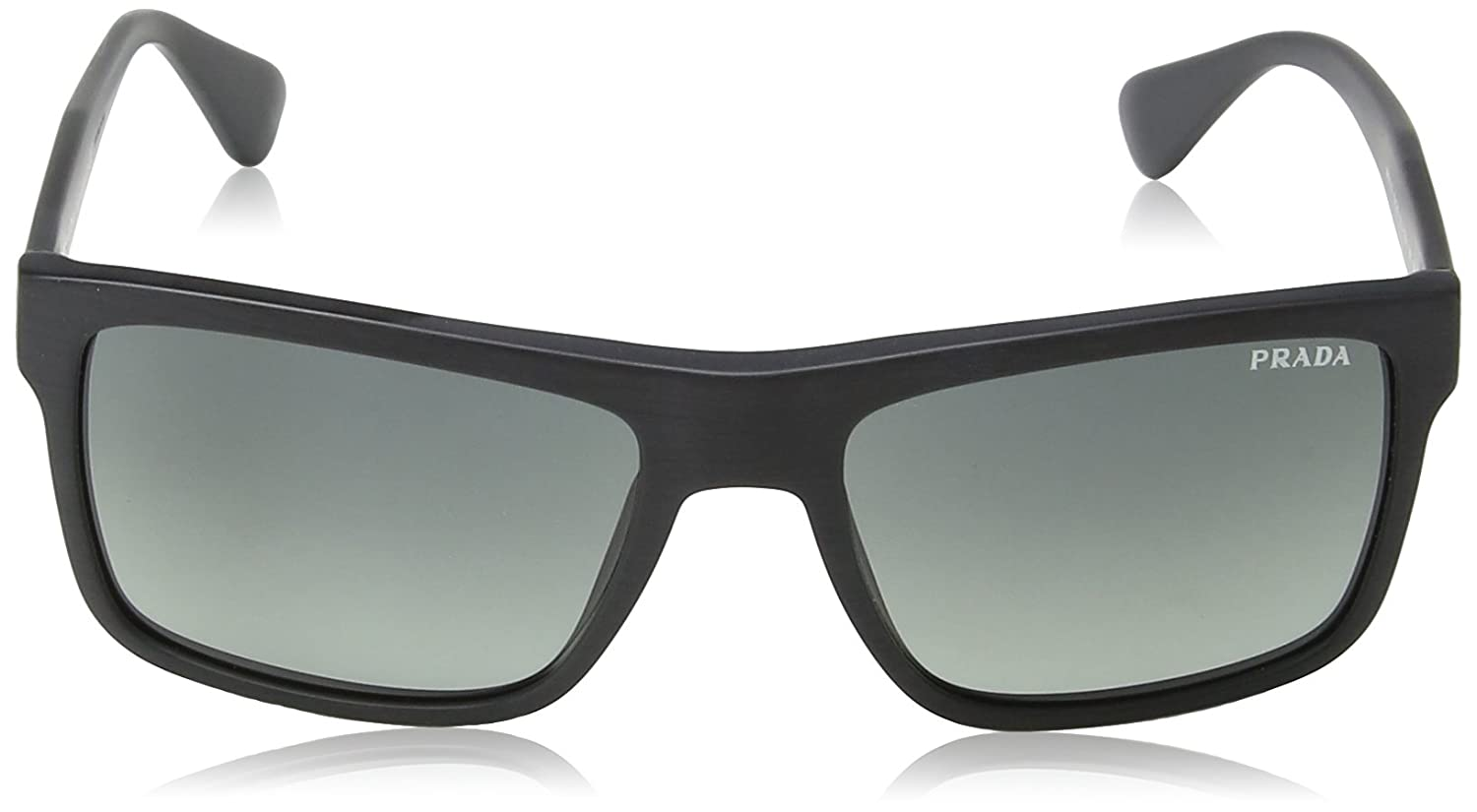 55263be7cc4c Amazon.com  Prada Men s 0PR 01SS Brushed Matte Black Light Grey Gradient  Dark Grey  Clothing