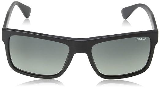 007a936e094 Amazon.com  Prada Men s 0PR 01SS Brushed Matte Black Light Grey Gradient  Dark Grey  Clothing