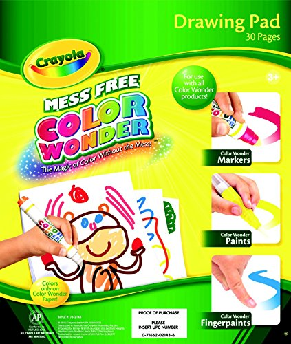 Crayola Color Wonder Mess-Free Non-Toxic Drawing Pad, Pack Of 30