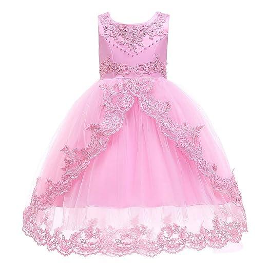 ChenYongPing Vestidos de niña niños Vestido de Princesa Vestido de ...