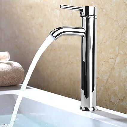 Homdox One Handle Bathroom Vessel Sink Faucet Stainless steel ...