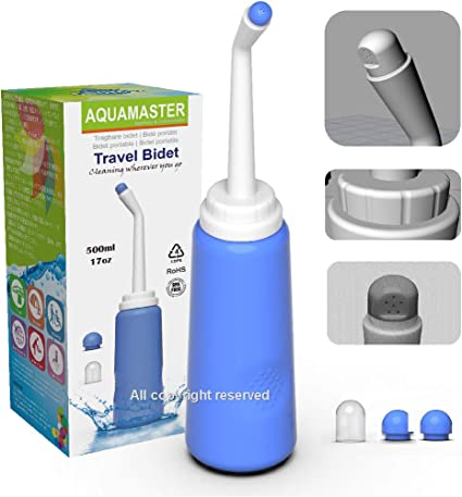 Amazon Com Aquamaster Peri Bottle For Soothing Postpartum Care Portable Bidet Sprayer Travel Bidet Portable Bidet With Convenient 2 Nozzle Baby Travel Bathing Kit Cleansing For Mom After Birth Health Personal Care