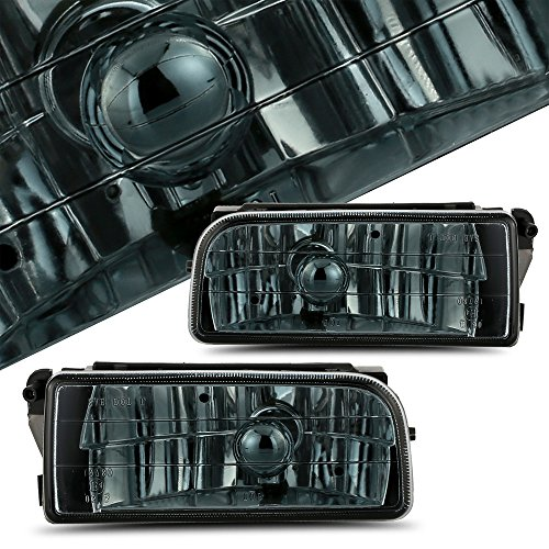 Scitoo Fog light Assembly Kit fit BMW E36/M3 1992 1993 1994 1995 1996 1997 1998 Projector Smoke Lens In Pair
