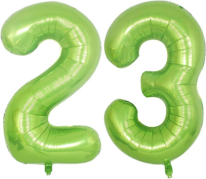 Silver #23 BoomYou Large Foil Mylar Balloons 40 Inch Silver Number 23 Balloons Giant Jumbo Birthday Balloons for Birthday Party Decorations