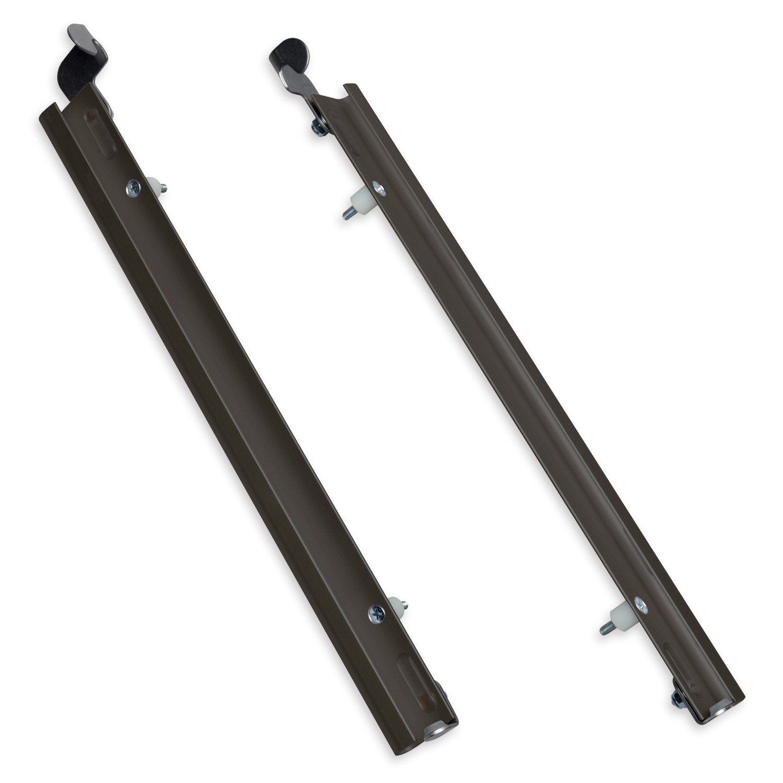 PlexiDor Performance Pet Doors Sliding Track with Flip Lock, Large, Bronze
