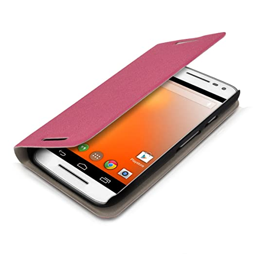 9 opinioni per kwmobile Custodia per Motorola Moto G (3. Generation)- Cover a libro in simil