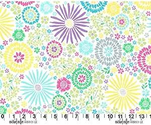 Colorido Flora Pop algodón tela – Michael Miller – por retales: Amazon.es: Hogar