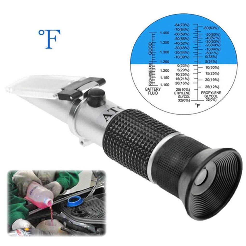 Flushzing Automotive Antifreez Refractometer Freezing Point Urea Adblue Battery Fluid Glass Water Tester Meter ATC Tool