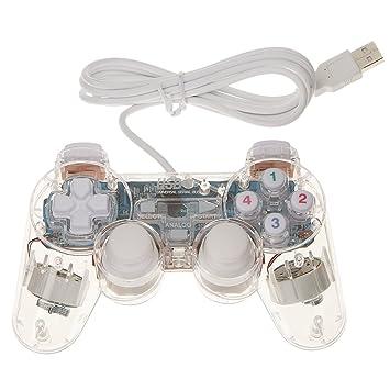 Dolity Controlador de Juego USB 2.0 Gamepad Joypad Joystick Dual Vibration para Ordenador Portátil: Amazon.es: Electrónica