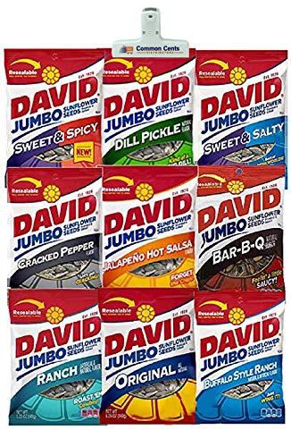 ONDAGO Bundle Set - 9 Davids Variety Sunflower Seeds with Premium Lifestyle Bag Security Sealer