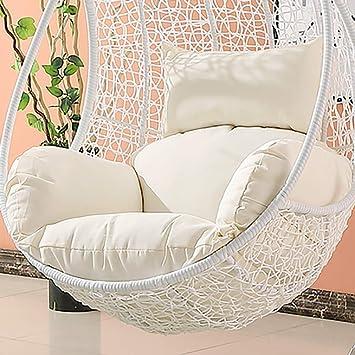 Phenomenal Amazon Com Msm Waterproof Swing Cushion Hanging Egg Rattan Machost Co Dining Chair Design Ideas Machostcouk
