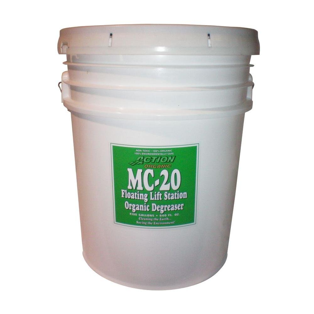 ACTION ORGANIC 1-5 Gal. Pail Organic Lift Station/Septic Tank Degreaser Super Concentrate (at 300%) (Available Cherry Sc by ACTION ORGANIC