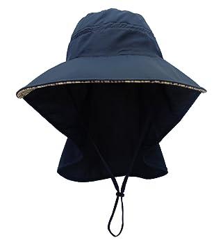 Damen Outdoor Sonnenhut Sommerhut Schirmmütze Camping Sonnenschutz Nackenschutz