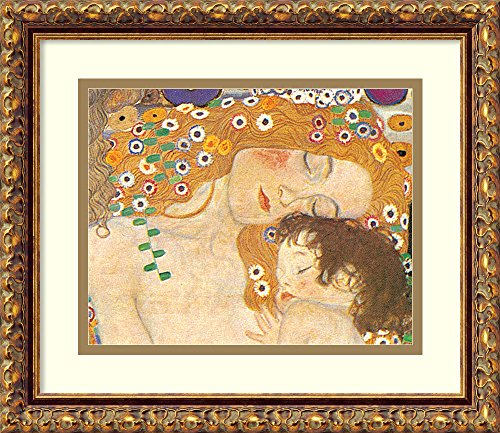 - Amanti Art Framed Home Wall Art Prints | Three Ages of Woman - Mother and Child (Detail IV), 1905 by Gustav Klimt | Traditional, Vintage Decor, X-Small Antique Bronze, 70534