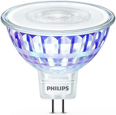 Philips foco LED, casquillo GU5.3, ángulo de apertura 36º, 7 W equivalentes a 50 W en incandescencia, 621 lúmenes, luz blanca cálida regulable