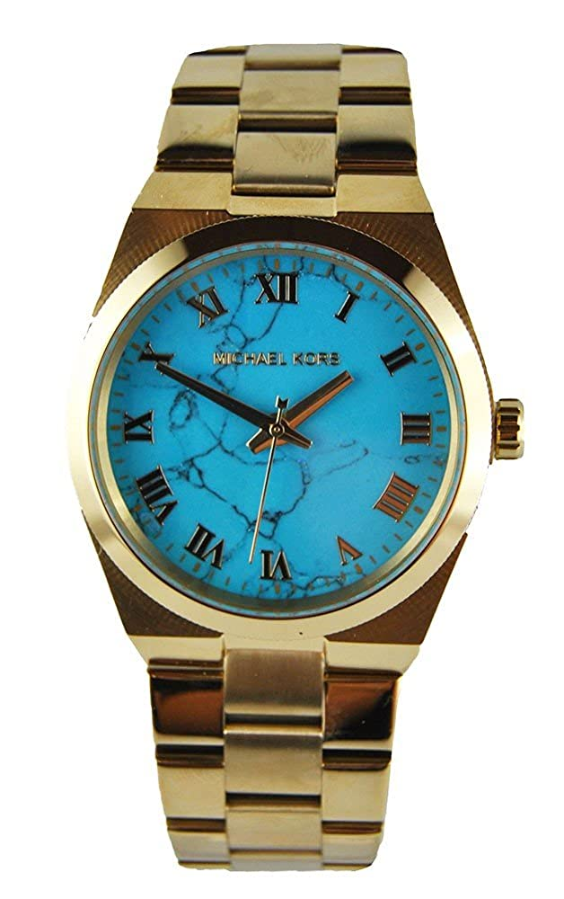 40fbd85cf176 ... Michael Kors MK5894 Womens Channing Gold-Tone Turquoise Dial Watch  Amazon.co.uk ...