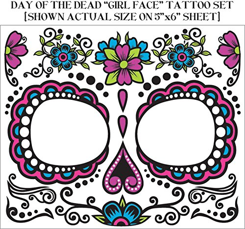F74679 Day Of Dead Face Tattoos (Day Of The Dead Face Tattoo)