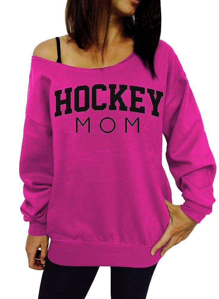 Dentz Design Hockey Mom Slouchy Sweatshirt