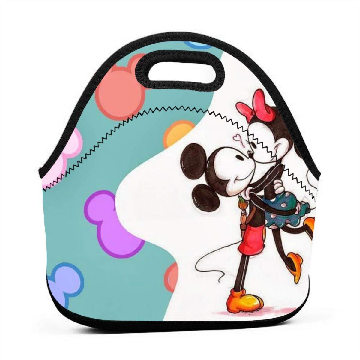N//A Mickey Mouse Bolsa peque/ña para el Almuerzo Bolsa de Picnic con Cremallera para Viajes al Aire Libre