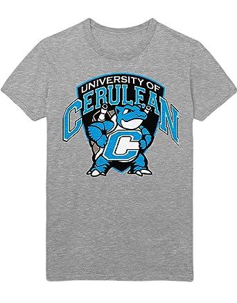 Hypeshirt T-Shirt Pokemon Turtok University of Cerulean C112262 Grau S