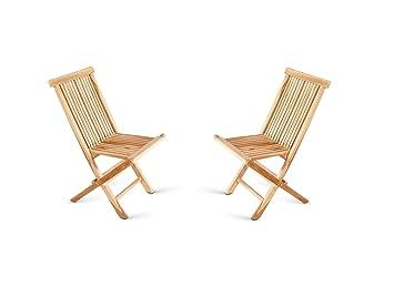 SAM® Conjunto de 2 sillas plegables, sillas de balcón, en ...
