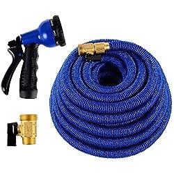 Triumph Stream Expandable Hose + 1-Year OEM Warranty   Flexible Garden Hose 50 ft + Water Hose Nozzle   Safe Drinking Flexible Hose As Seen On TV   Expandable Garden Hose w/ Water Hose Sprayer