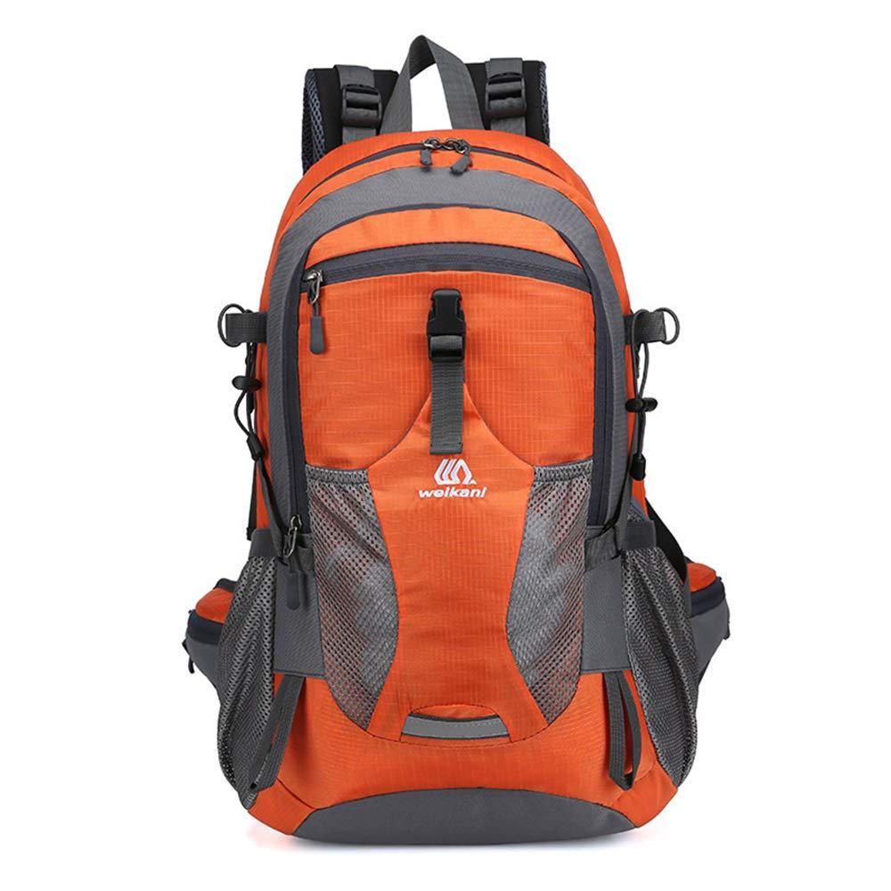 Orange  YNNB 40L en Plein Air Randonnée Sac à Dos, Sports Imperméables Trekking Sac à Dos Voyage Sac à Dos pour Escalade Camping Alpinisme Pêche Vélo Voyager Ski,rouge